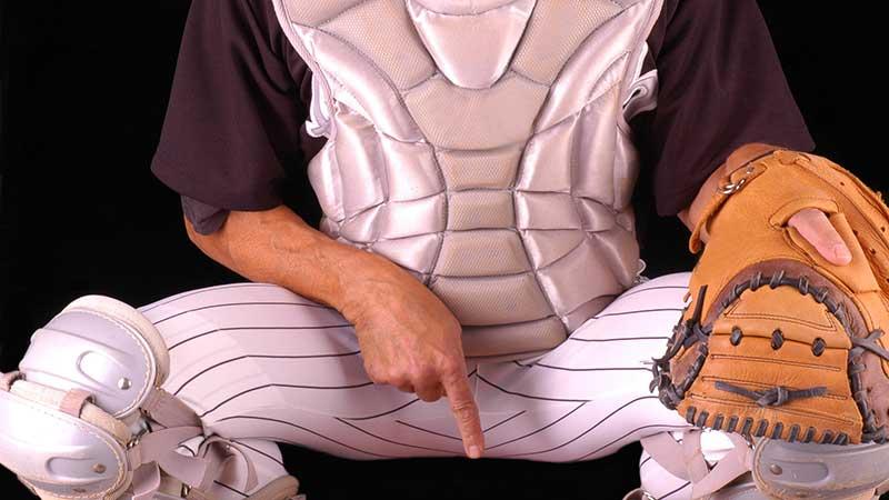 Catcher Signals Pitcher