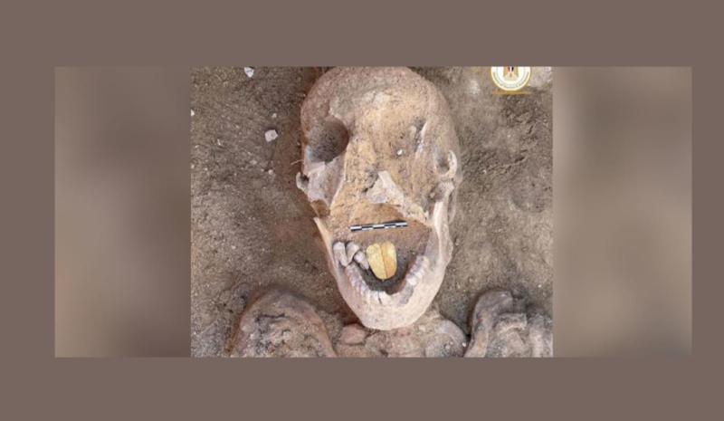 A Golden Tongued Mummy