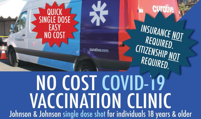 Moorpark College is giving FREE COVID vaccines to anyone 18 & up! Monday, May 17th