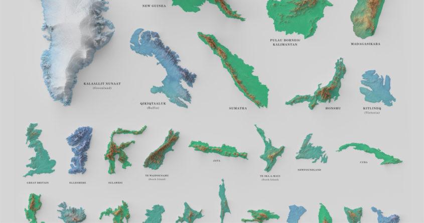Visualizing The Worlds 100 Biggest Islands